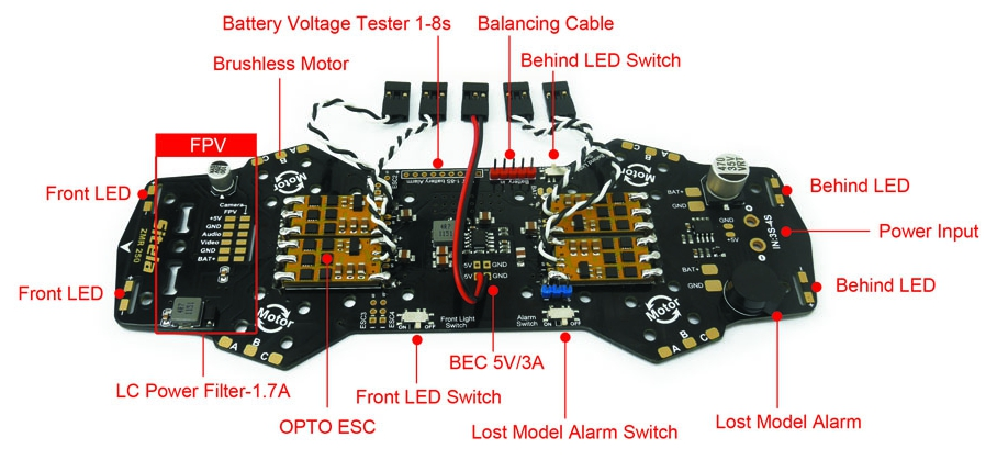 in addition to providing a neat way to route power around your quadcopter  the zmr pdb can also include other circuits for powering your fpv cameras,