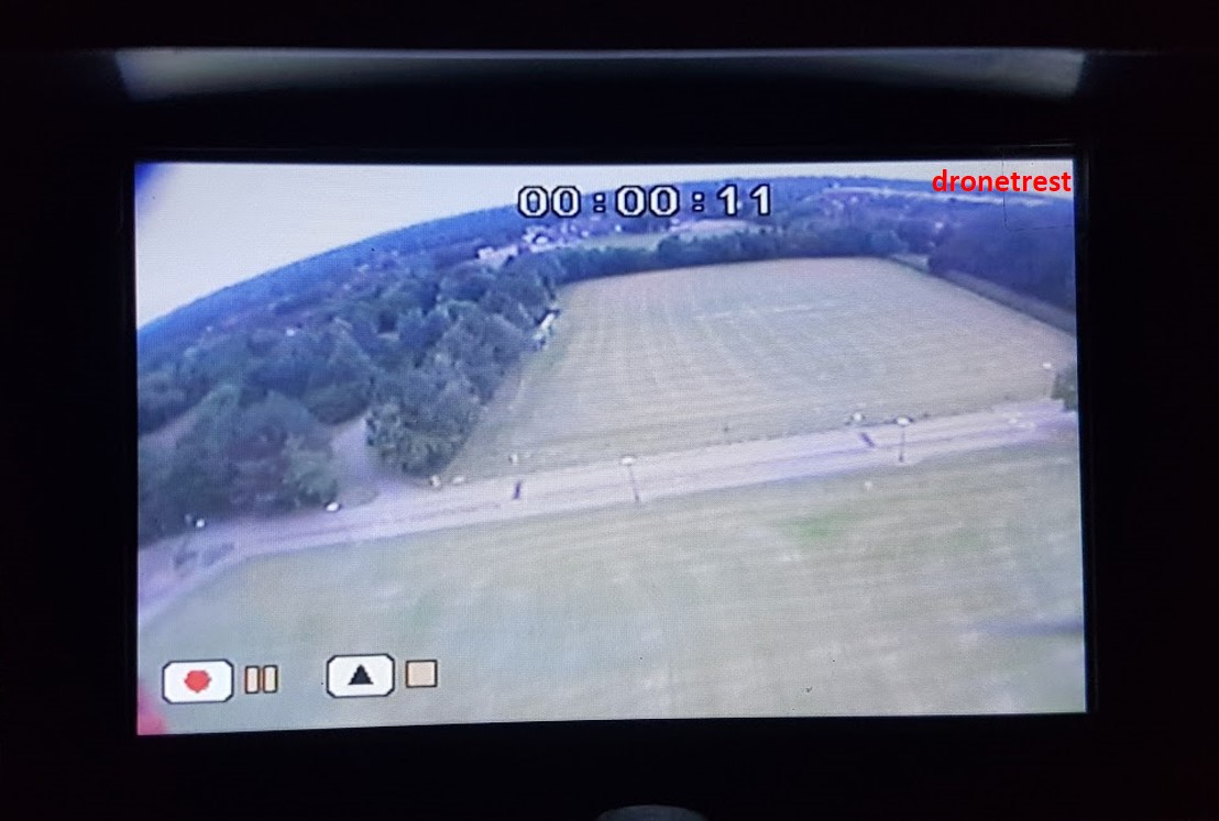 LCD monitor playing a DVR FPV video