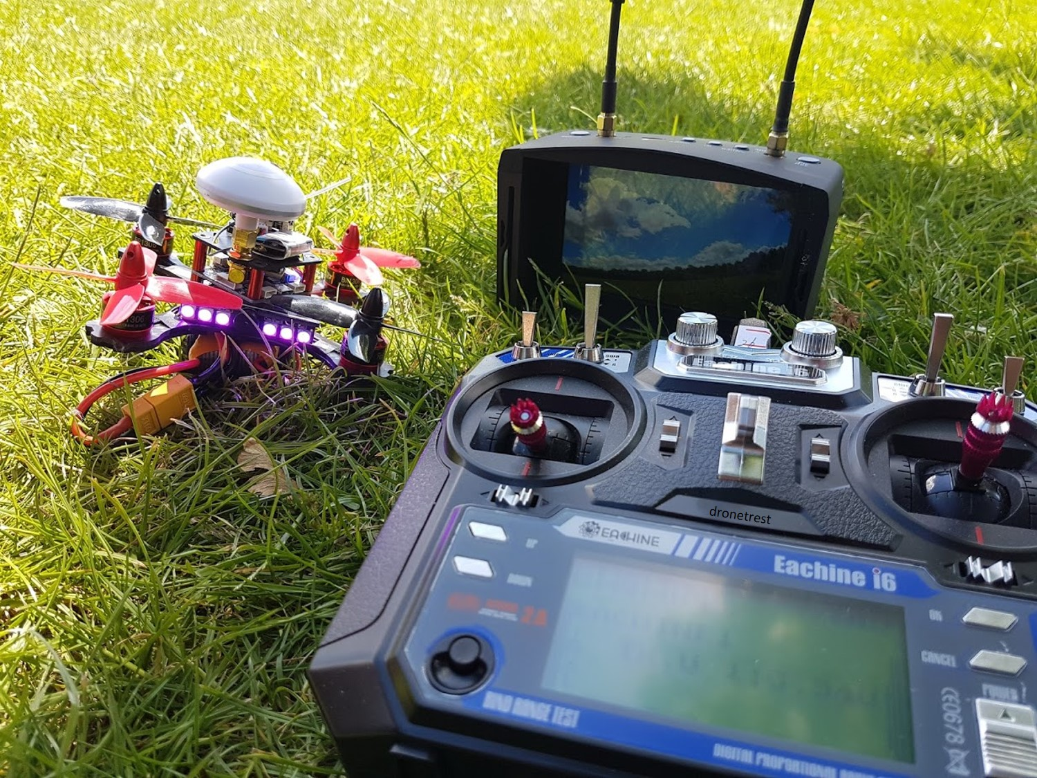 EV800D with Falcon 120 FPV quadcopter