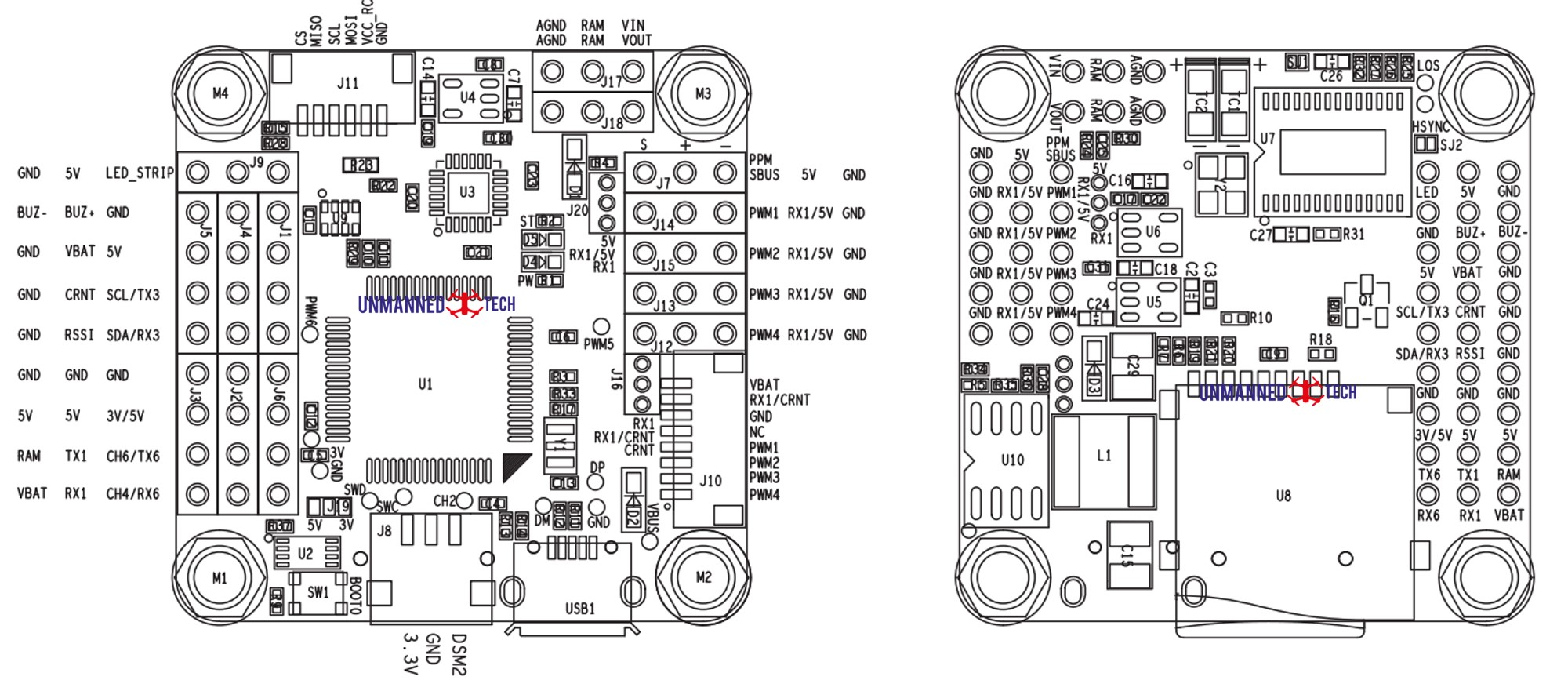 Omnibus F4 V5 Flight Controller Guide Dronetrest Blog Forward And Reverse Motor Control Circuit Together With Diagramas De Pinout