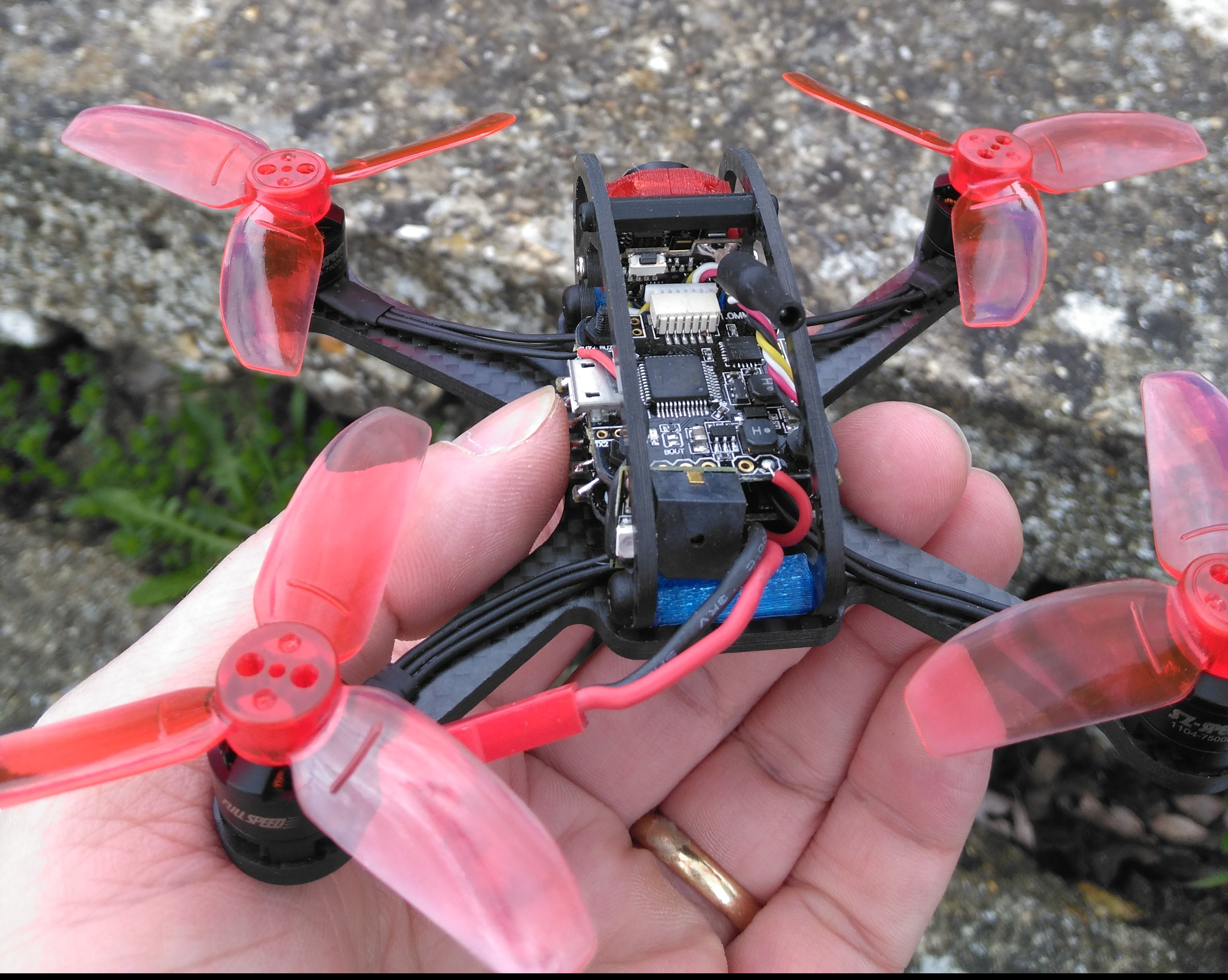Leader 120 FPV Quadcopter Back